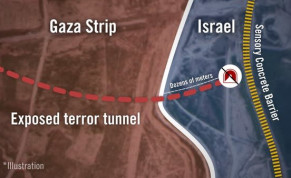 Route of the exposed terror tunnel.