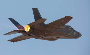 CLAIMING THAT agreeing to sell F-35s to such a country will lead to strategic harm for Israel is an exaggeration. An F-35 aircraft is seen in mid-flight during an aerial exercise at Uvda Air Force Base.