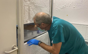 IIBR's vaccine candidate arrived at Hadassah and was placed in the deep-freezer