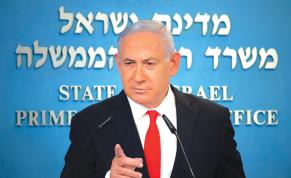 PRIME MINISTER Benjamin Netanyahu speaks at his office in Jerusalem on September 13.