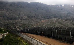 Fences are seen on the ceasefire line between Israel and Syria in the Golan Heights March 25, 2019.