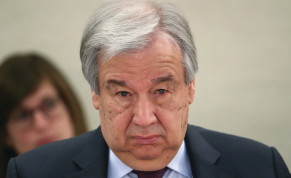 UN SECRETARY-GENERAL Antonio Guterres attends a session of the Human Rights Council at the United Nations in Geneva, Switzerland, on February 24.
