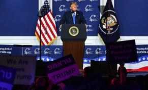 President Donald Trump speaks at the Republican Jewish Coalition's annual leadership meeting at The Venetian Las Vegas, April 6, 2019.