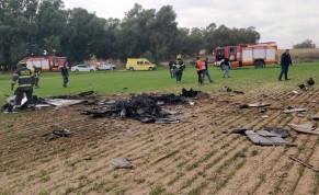 Aircraft crashes near Mishmar HaNegev, Nov. 24, 2020
