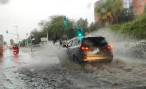 Flooding at the Expo Tel Aviv bridge