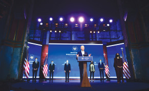 President-elect Joe Biden introduces key foreign policy and national security nominees and appointments at the Queen Theatre in Wilmington, Delaware, on Tuesday.