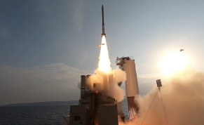 The Israel Missile Defense Organization conducts live-fire intercept tests of the David's Sling weapon system