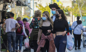 Israelis are seen walking in Jerusalem's Mahane Yehuda market amid the coronavirus pandemic, on January 12, 2021.