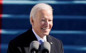 U.S. President Joe Biden speaks during the 59th Presidential Inauguration in Washington, U.S., January 20, 2021.