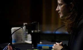 Nominee for Director of National Intelligence Avril Haines appears before the Senate Intelligence Committee during a confirmation hearing on Capitol Hill in Washington, U.S., January 19, 2021.