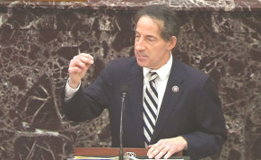 US HOUSE LEAD impeachment manager Rep. Jamie Raskin (D-MD) speaks during the impeachment trial of former US president Donald Trump last week.