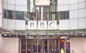A general view of the Broadcasting House at BBC headquarters in Central London in 2017.