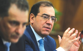 GYPT'S PETROLEUM and Mineral Resources Minister Tariq al-Mulla attends a news conference in Cairo in 2018.