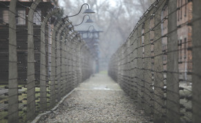 A ONCE-DEADLY electrified barbed wire fence surrounds the site of the former Nazi Auschwitz death camp in Poland.