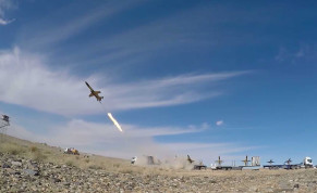 A drone is launched during a large-scale drone combat exercise of Army of the Islamic Republic of Iran, in Semnan, Iran January 6, 2021