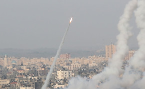 Rockets are launched by Palestinian militants into Israel amid Jerusalem's tension, in Gaza May 10, 2021.