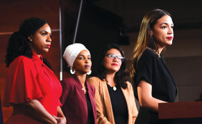 US REPS. (from left) Ayanna Pressley, Ilhan Omar, Rashida Tlaib and Alexandria Ocasio-Cortez, four members of 'the Squad,' have made a name for themselves in their bashing of Israel over the last few years.