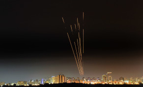 A long exposure picture shows iron dome anti-missile system fires interception missile as rockets fired from the Gaza Strip to Israel, as seen from the southern Israeli city of Ashkelon May 17, 2021.