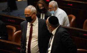 Defense Minister Benny Gantz in the Knesset Plenum. August 4, 2021.