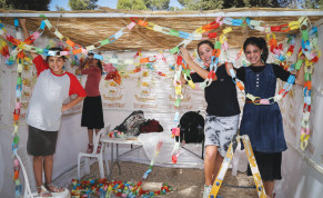 A SUKKAH transports us back to the house we built for God.