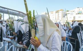 PRAYING IN Jerusalem during Sukkot.