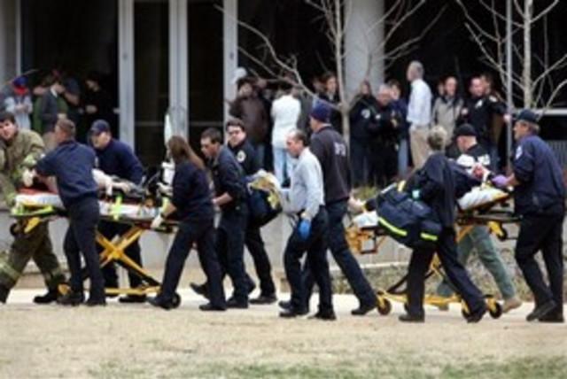 US campus shooting (photo credit: Associated Press)