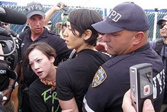 hot dog champ arrested 311 AP (photo credit: Associated Press)