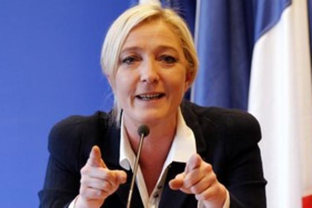 Marine Le Pen France National Front 311 R (photo credit: REUTERS/Benoit Tessier)