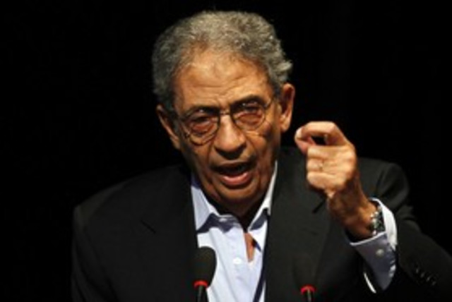 Egyptian presidential candidate Amr Moussa 311 R (photo credit: Abd El Ghany / Reuters)