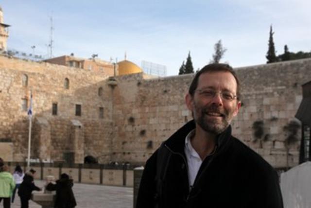 Likud activist Moshe Feiglin at the Kotel 390 (photo credit: Marc Israel Sellem)