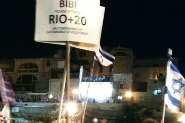 Activists call on PM to attend Rio+20  370  (photo credit: Courtesy Felipe Burman)