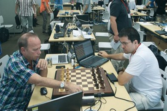 computerized chess match 370 (photo credit: International Computer Games Association)