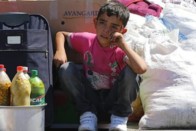 Syrian child refugee in Turkey 370 (photo credit: Reuters)