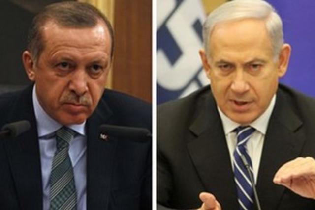 Erdogan and Netanyahu split screen 370 (photo credit: REUTERS)