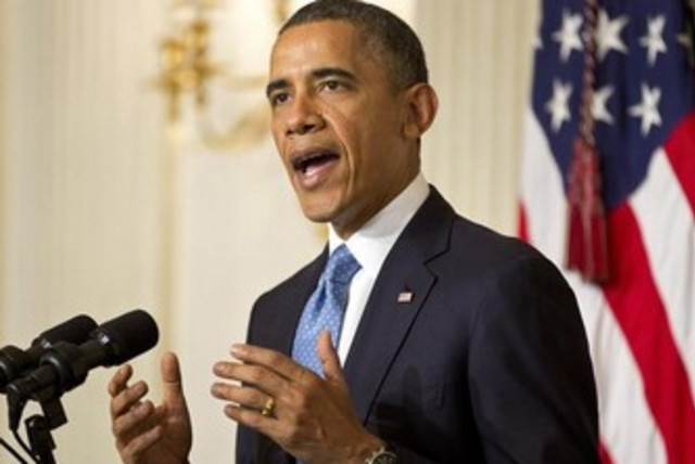 US President Barack Obama at the White House 370 (photo credit: Reuters)