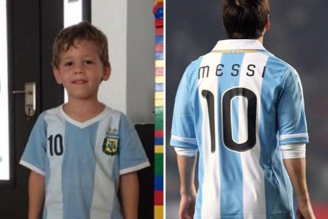 Daniel Tragerman, left, and Lio Messi. (photo credit: TWITTER)