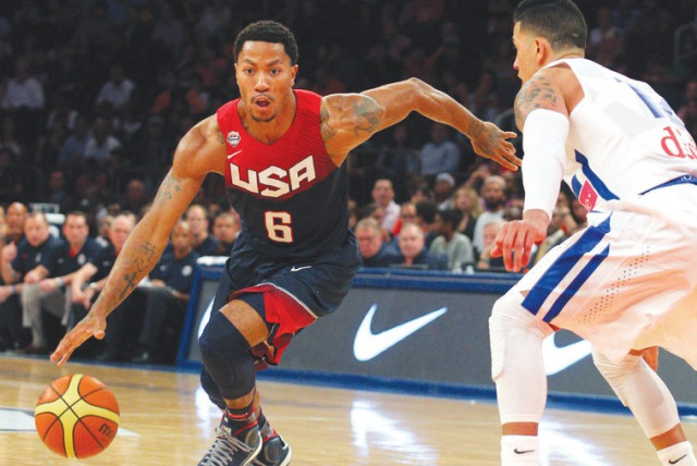 Derrick Rose and Team USA (photo credit: USA TODAY)