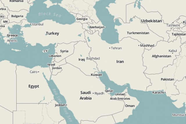 Israel Middle East Map Israel wiped off the map in Middle East atlases   The Jerusalem Post