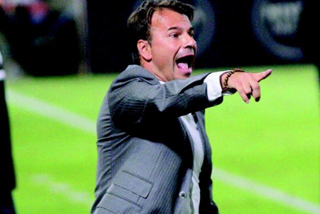 Maccabi Haifa coach Aliksandar Stanojevic  (photo credit: ADI AVISHAI)