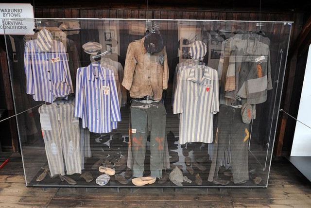 Majdanek clothing and shoes from Holocaust (photo credit: Wikimedia Commons)