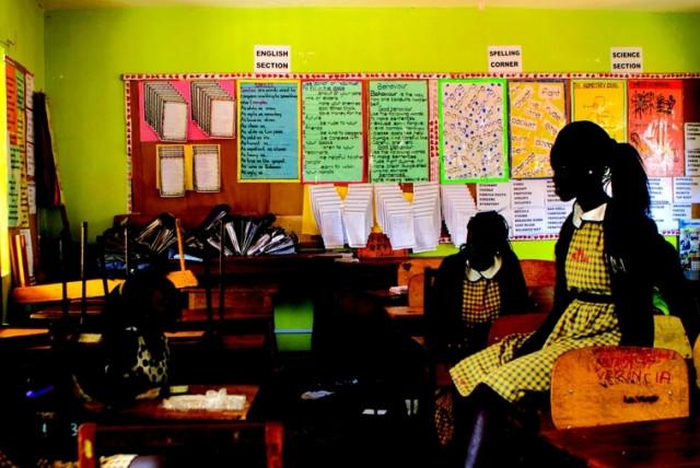 Des étudiants sud-soudanais du Trinity College à Kampala (photo credit: MICKEY NOAM-ALON)