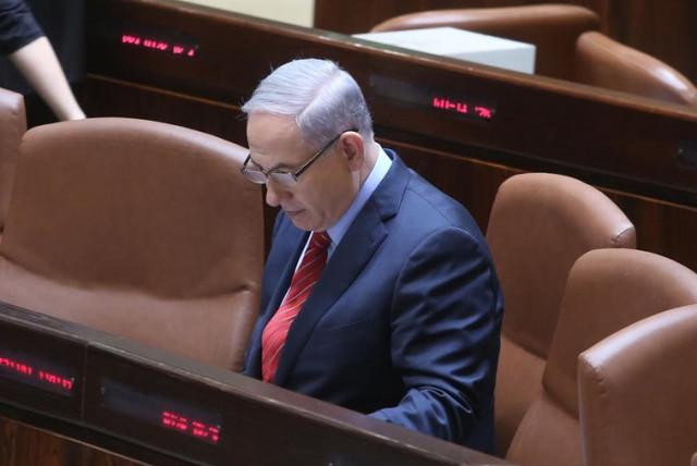 Prime Minister Benjamin Netanyahu at the Knesset in Jerusalem, December 3 (photo credit: MARC ISRAEL SELLEM)