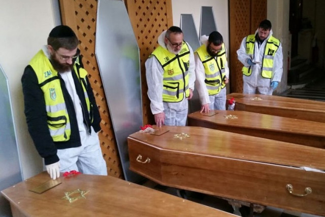 Coffins of Paris kosher market attack being transported to Israel (photo credit: ZAKA RESCUE AND RECOVERY ORGANIZATION)