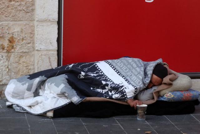 Homelessness in Jerusalem  (photo credit: MARC ISRAEL SELLEM/THE JERUSALEM POST)