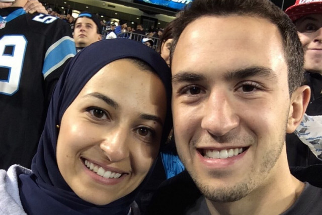 Deah Shaddy Barakat and his wife Yusor Mohammad (photo credit: TWITTER)