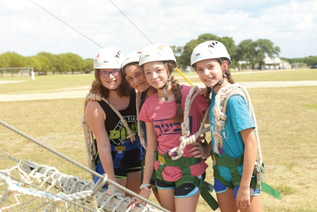 Campers spend time at Camp Young Judaea-Texas before Hurricane Harvey. The camp has since opened its doors to evacuees from Houston, promising food, shelter and activities for children. (photo credit: YOUNG JUDAEA-TEXAS)