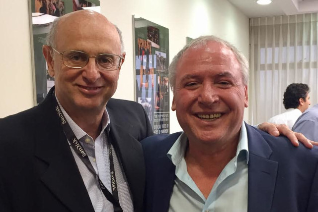 Former American Friends of Likud president Dr. Julio Messer with coalition chairman David Amsalem (photo credit: COURTESY MESSER)