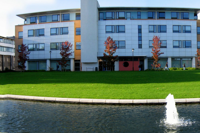 A building on the University of Warwick campus (photo credit: Wikimedia Commons)