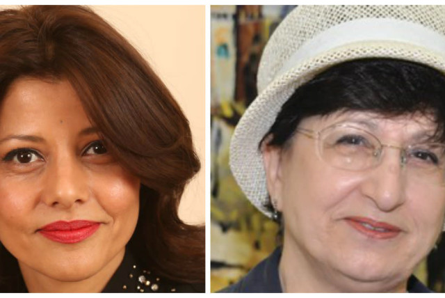 Orly Levy-Abecassis (L) and Adina Bar-Shalom (R) (photo credit: KNESSET + SARAH LEVIN)