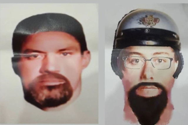 Photos of two suspects published by Malaysia Police, believed to have assassinated a Hamas engineer in Malaysia (Credit: Malaysia Police).